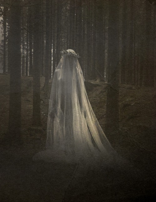 shrouded bride