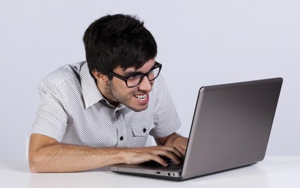 angry internet individual